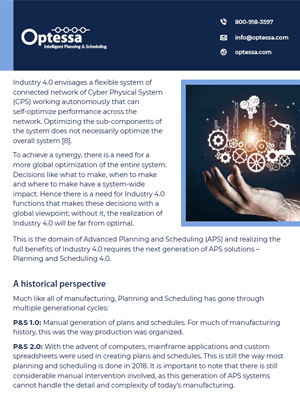 WHITEPAPER - Planning & Scheduling the Vital Industry 4 Transformation Component (Part 2) Screenshot